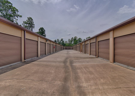 Storage units at Lakewood Mini Storage in Houston.