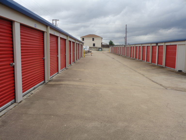 Exterior view of storage facility.