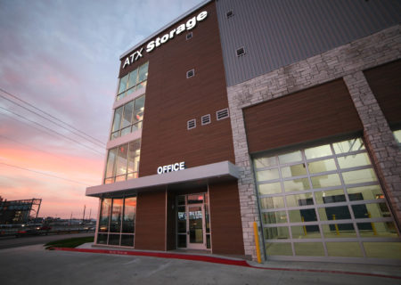 ATX Storage rental office in Austin, TX.