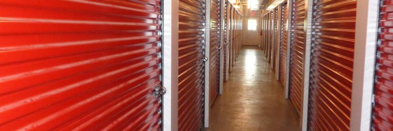 Interior storage unit doors.