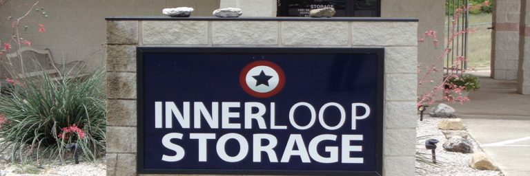 Inner Loop Storage facility sign.