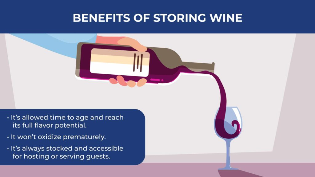 an illustration showing a bottle of red wine being poured into a wine glass